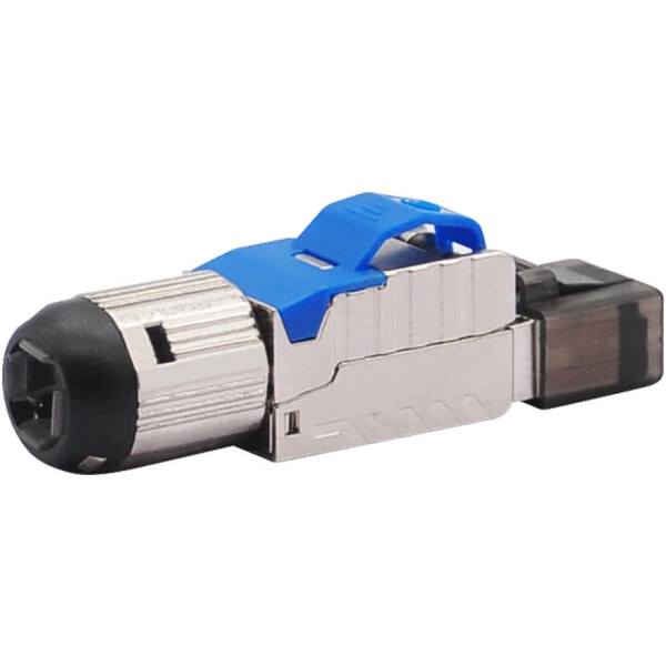 RJ45 Modular CAT7 Connector | Shielded | Tool Free up to 8mm Diameter Cable