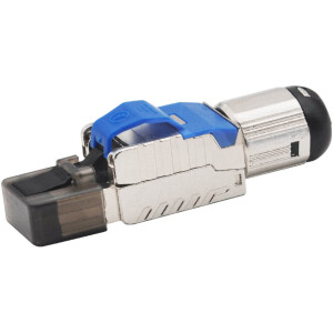 RJ45 Modular CAT7 / CAT8 Connector | Shielded | Tool Free up to 8mm Diameter Cable
