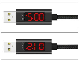 1 Meter USB Type C Charging Cable with Voltage Indicator | Fast Charging | SuperCharge