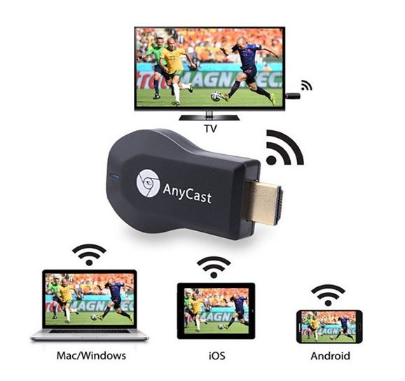 4k Ultra HD Anycast M100 Wireless Phone Screen Mirroring to HDMI | Chromecast | Miracast Dongle