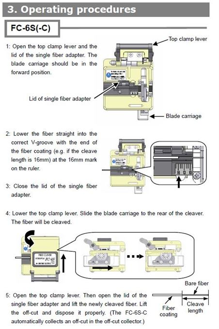 High Precision Fiber Optic Cleaver | 125um Fiber Optic Cable Cutter