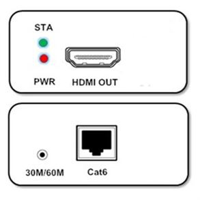 POC HDMI Extender over CAT6 Networking Cable up to 70 Meter