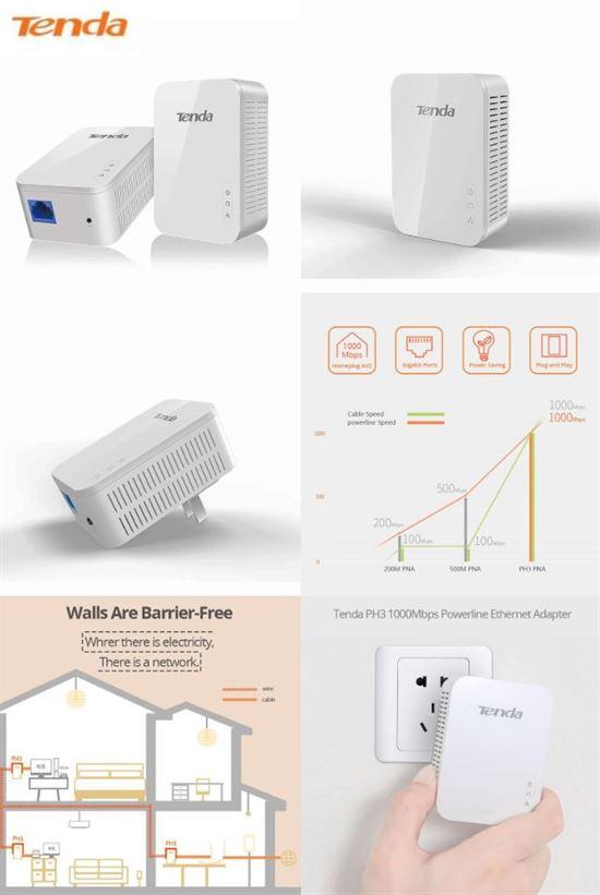 Gigabit Ethernet Network over Powerline Adapter | Tenda