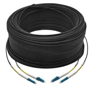 100M Duplex Single Mode UPC LC-LC Fiber Optic Cable | Fiber Patch Cord | Outdoor Drop Cable