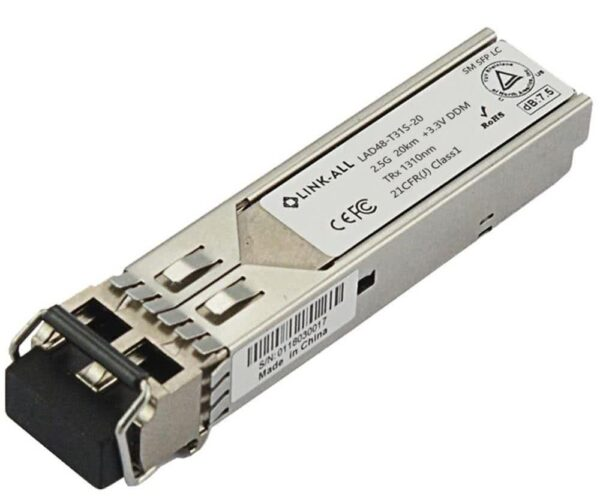 20km Single Mode Dual LC 1.25Gbit 1310nm Gigabit SFP Transceiver Module | Cisco, Huawei, Dell Compatible