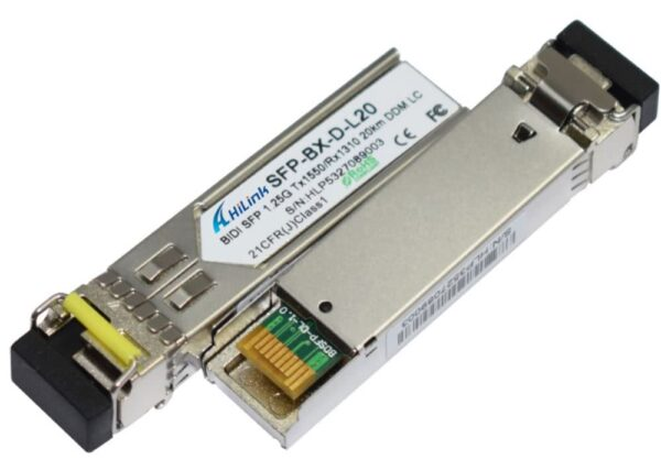 20km Single Mode BiDi SFP Transceiver Module SET | Cisco Huawei Dell Compatible | 1000BaseBX Bi-Directional