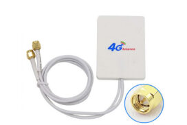 Dual Mimo 4G | LTE Indoor Antenna Signal Booster with 7m SMA Connector Cable | 4G Signal Amplifier