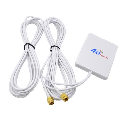 Dual Mimo 4G | LTE Indoor Antenna Signal Booster with 7m SMA Connector Cable | 35DBI 4G Signal Amplifier