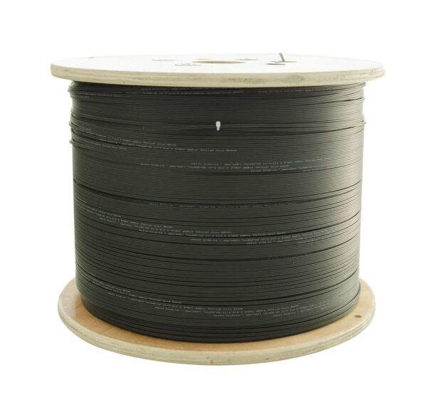 2km / 2000 Meter Roll | 4 Core Single Mode Fiber Cable | G.657A2 Outdoor Fiber Optic Cable