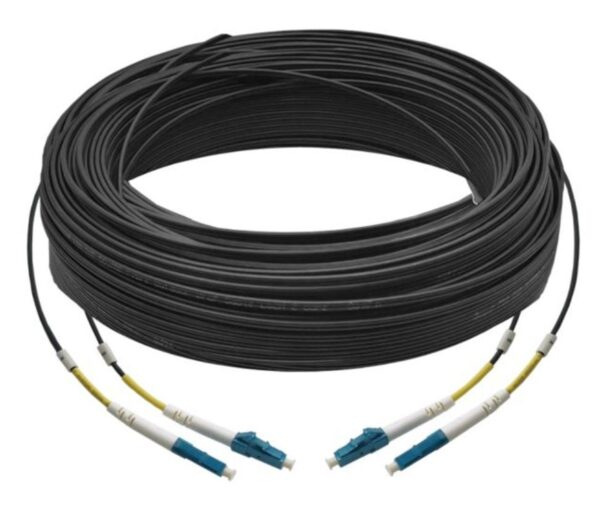 60M Duplex Single Mode UPC LC-LC Fiber Optic Cable | Fiber Patch Cord | Outdoor Drop Cable