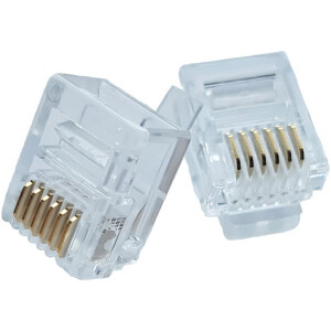 6 Pin RJ12 Connector | 6P6C Crimp-on