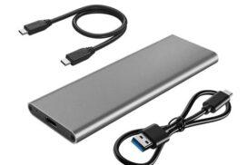 External USB Type C to M.2 NVME PCIe x2 or x4 M Key | USB 3.1 Enclosure