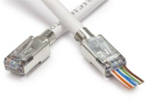 Shielded eZ RJ45 CAT6/CAT7 Network Connector | Push Through Crimp with Loadbar and External Ground