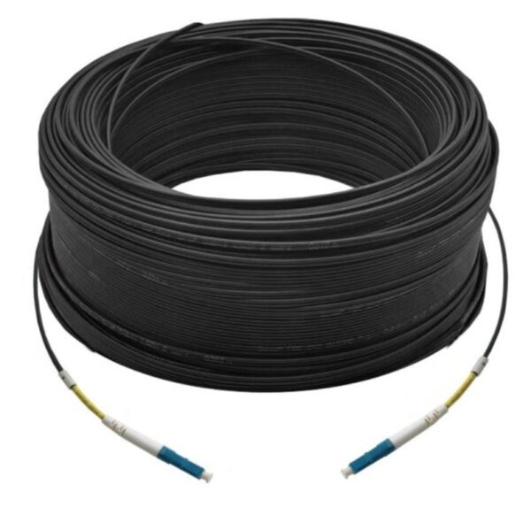 100M Simplex Single Mode UPC LC-LC Fiber Optic Cable | Fiber Patch Cord | Outdoor Drop Cable