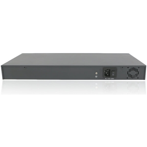 400 Watt Rack Mountable 28 Port Gigabit POE+ Network Switch with 2 SFP Transceiver Module Ports | OEM