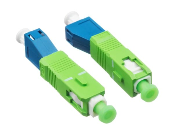 LC/UPC Female to SC/APC Male Adapter | Simplex Single Mode Fiber Optical Adapter