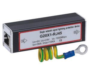 Gigabit Ethernet RJ45 Surge Protector / Arrester with 802.3AF PoE (Power over Ethernet) Device support