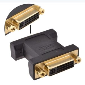 DVI Coupler | Female to Female DVI Adapter | Joiner for DVI-A DVI-I or DVI-D