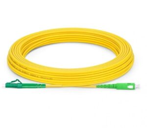 10 Meter APC SC to LC Simplex Single Mode Fiber Optic Cable | Fiber Cable for Router