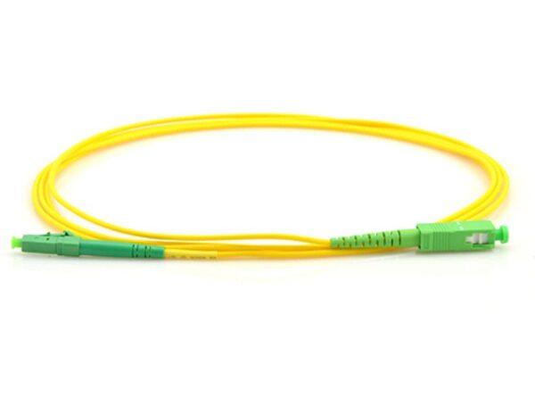 3 Meter APC LC to SC Simplex Single Mode Fiber Optic Cable | Router Fiber Cable