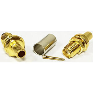 Crimp-on SMA Female Connector (Used with LMR195 Cable for Wifi Antenna Extension cable)