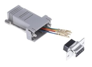 Male (or Female) 9 pin RS232 over CAT6 | Serial DB9 over Network Cable Adapter