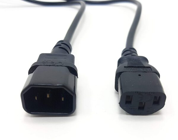 1.5 Meter Male to Female PC Power Cable extension cord (Kettle Cord / IEC Plug)