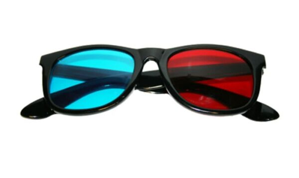 Anaglyph 3D Glasses Red/Cyan OR Rechargeable Active 3D Shutter Glasses RF or Bluetooth | Selectable