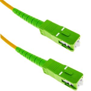 Simplex (Single Cable) APC SC to SC Fiber Cable | Single Mode | Various Lengths Fiber Optic Patch Cable