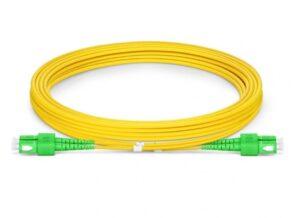 Dual Cables   Duplex APC SC to SC Fiber Cable   Single Mode   Various Lengths Fiber Optic Patch Cable