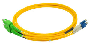 Dual Cables | Duplex APC SC to LC UPC Single Mode Fiber Optic Cable | Fiber Cables for Router | Various Lengths