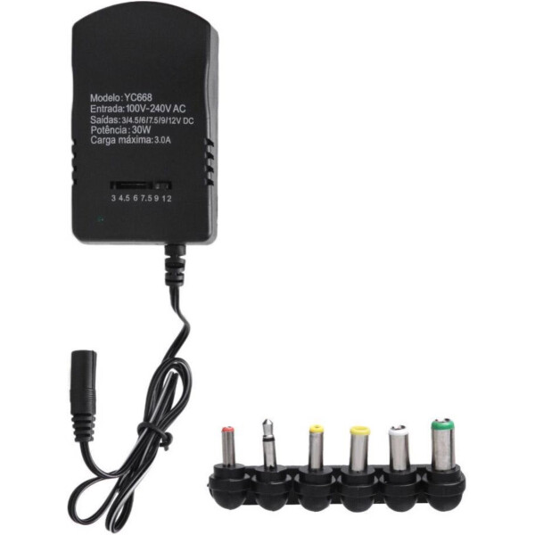 30 Watt Universal AC DC Power Adapter for Hard drives | SLX Splitters | Routers | 3v – 12 Volt