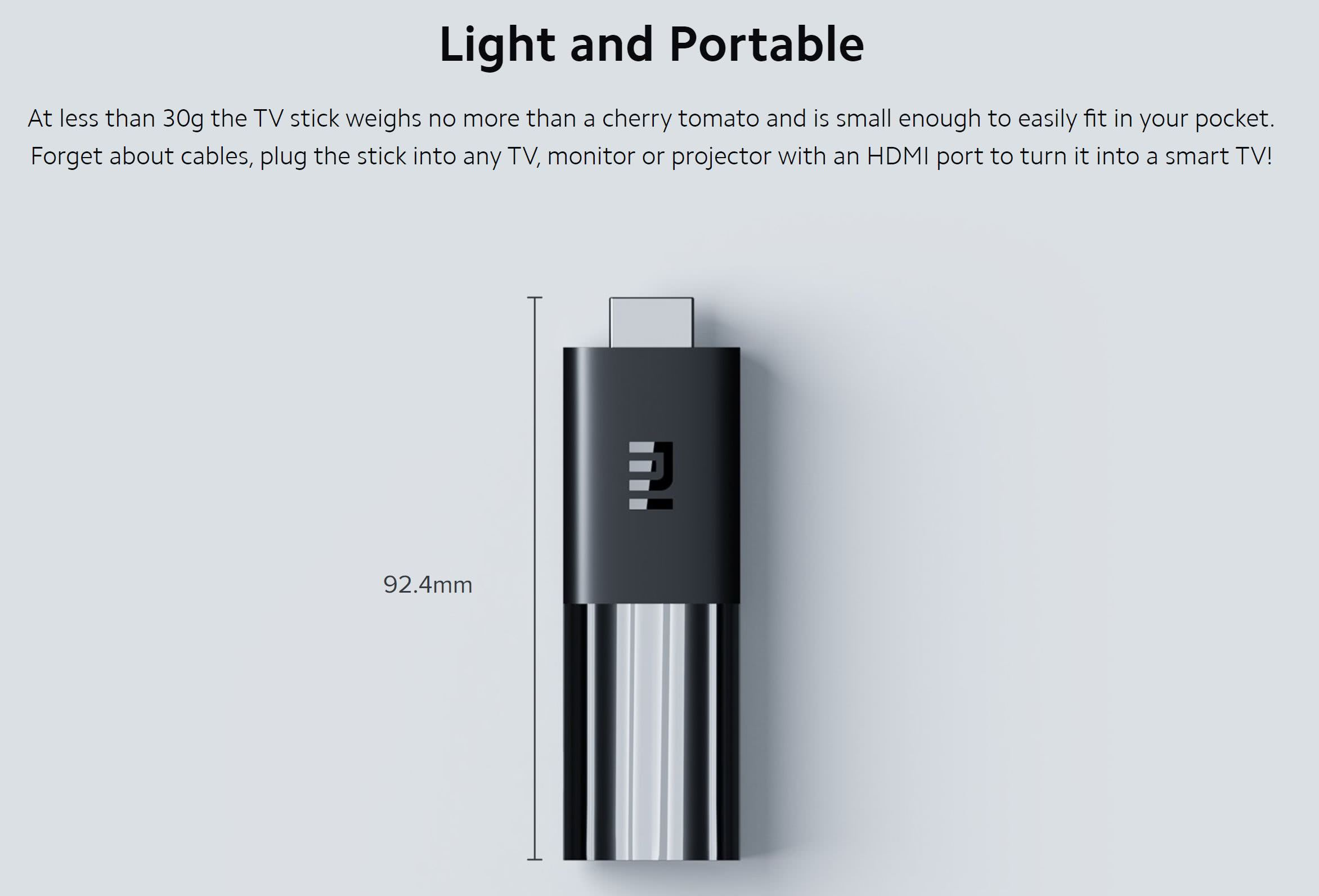 Xiaomi Mi Stick Google Certified Media Player | DSTV Now | Netflix | Showmax | ChromeCast