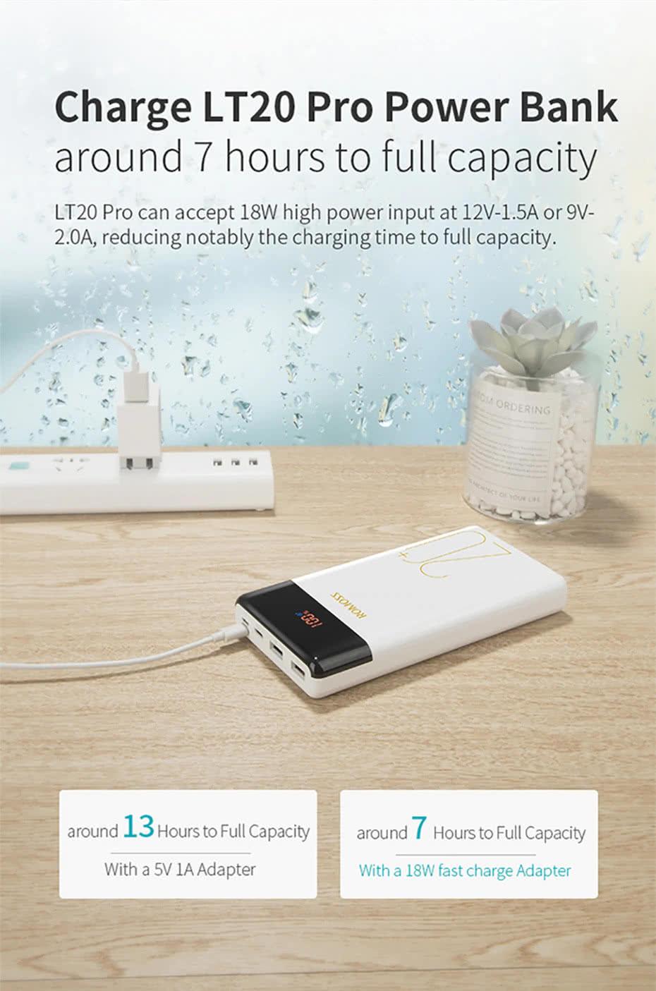20000mAh LT20 Pro Romoss Power Bank | Adaptive Fast Charging Battery Bank
