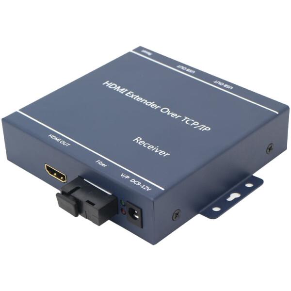 20km USB and HDMI over Fiber Optic KVM Extender | HDMI Splitter on TX