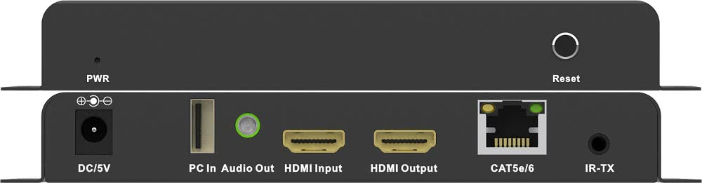 HDMI KVM Extender over Network or 1:1 via CAT6 Cable up to 150 Meter | With HDMI Passthrough on TX and Infrared