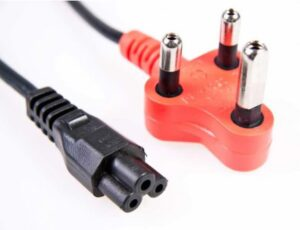1.8 Meter 220 Volt Red SA 3 Pin Plug to Clover Power Cable | Laptop / HDTV Power Cable